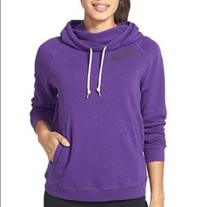 Nike Rally Funnel Neck Hoodie Court Purple Sz XS